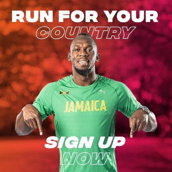 Усейн Болт приглашает принять участие в Чемпионате Мира по бегу!