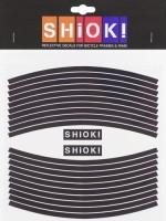 Shiok! Светоотражающие наклейки на обод черные