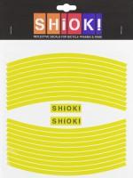 Shiok! Светоотражающие наклейки на обод лимонные