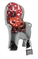 Комплект велокресло детское Hamax Kiss+шлем красный