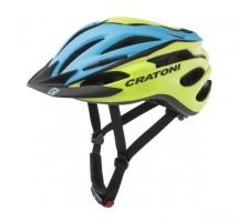 Велошлем Cratoni Pacer голубой/лайм