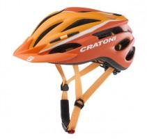 Велошлем Cratoni Pacer оранжевый/белый