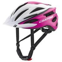Велошлем Cratoni Pacer белый/розовый