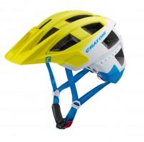 Велошлем Cratoni Allset Лайм/белый/голубой