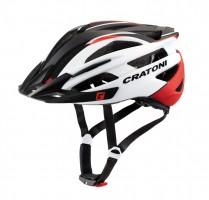 Велошлем Cratoni Agravic белый/красный/черный