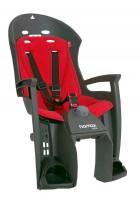 Hamax ¬елокресло детское HAMAX Siesta на багажник серое/красное