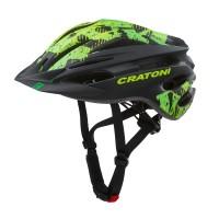 Велошлем Cratoni Pacer чёрный/зелёный матовый