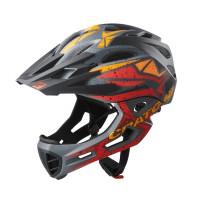 Велошлем C-Maniac PRO чёрный/красный/оранжевый
