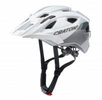 Велошлем Cratoni Allride белый/серебристый