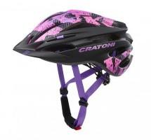 Cratoni Велошлем Cratoni Pacer Junior чёрный/розовый/фиолетовый