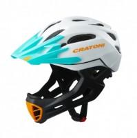 Cratoni Велошлем Cratoni C-Maniac белый/чёрный/бирюзовый матовый