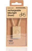 Bookman Фонарь велосипедный передний Block Light Front бежевый