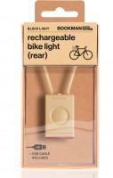 Bookman Фонарь велосипедный задний Block Light Rear бежевый