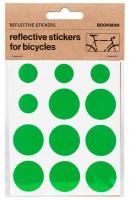 Bookman Светоотражающие наклейки на раму круги зеленые