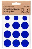 Bookman Светоотражающие наклейки на раму круги голубые