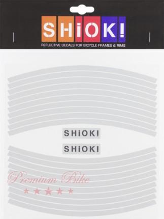 Shiok! Светоотражающие наклейки на обод белые