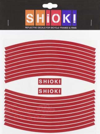 Shiok! Светоотражающие наклейки на обод красные