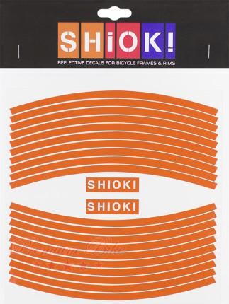 Shiok! Светоотражающие наклейки на обод оранжевые