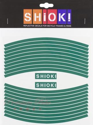 Shiok! Светоотражающие наклейки на обод зеленые