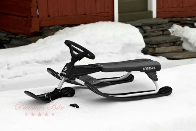 Hamax Снегокат управляемый Sno Blade серый/красный