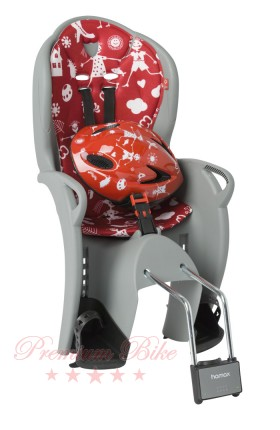 Hamax Комплект велокресло детское Hamax Kiss+шлем красный