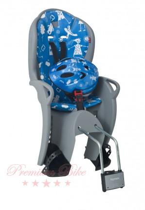 Hamax Комплект велокресло детское Hamax Kiss+шлем голубой