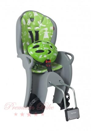 Hamax Комплект велокресло детское Hamax Kiss+шлем зеленый