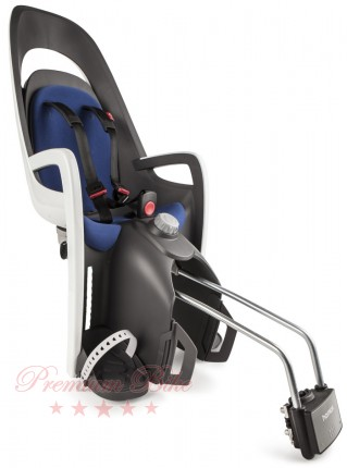 Hamax Велокресло детское HAMAX Caress заднее на подседельную трубу серое/белое/синее