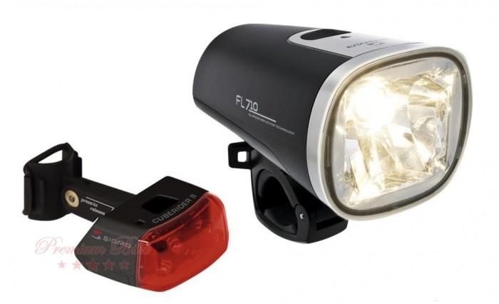 Sigma Набор велосипедных фонарей Sigma FL710+CUBERIDER II