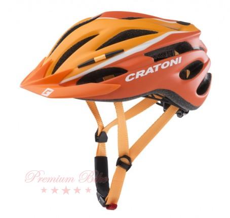 Cratoni Велошлем Cratoni Pacer оранжевый/белый