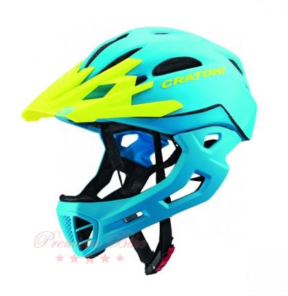 Cratoni Велошлем Cratoni C-Maniac голубой/лимонный