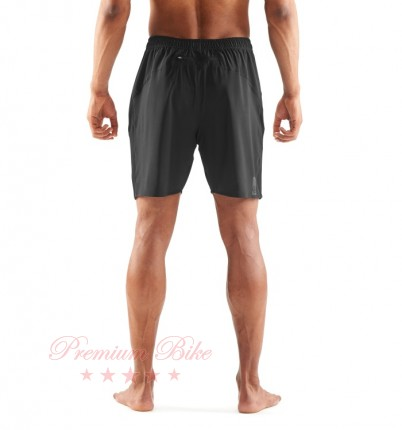 SKINS Шорты спортивные Activewear Square Short 7 inch Black