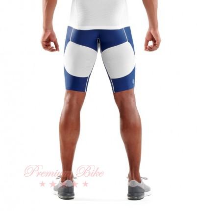 SKINS Шорты компрессионные DNAmic Ultimate Cool синие/белые