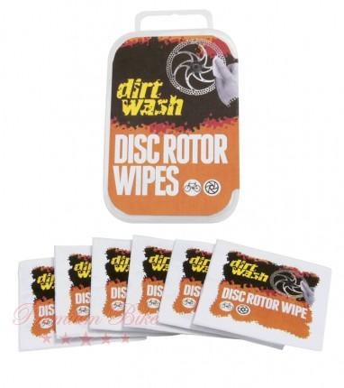 Weldtite Салфетки для чистки тормозного ротора Dirtwash Disc Rotor Wipes 6 шт