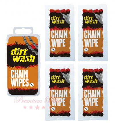 Weldtite Салфетки для чистки цепи Dirtwash Chain Wipes 4 шт