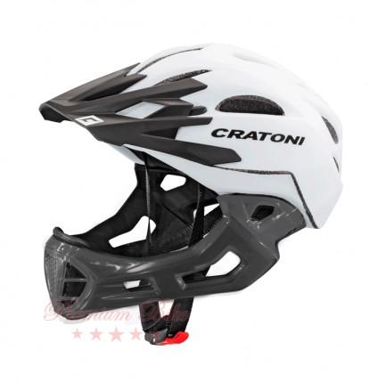 Cratoni Велошлем Cratoni C-Maniac белый/черный