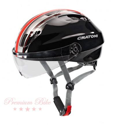 Cratoni Велошлем Cratoni Evolution light черный/красный