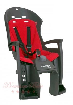 Hamax Велокресло детское HAMAX Siesta на багажник серое/красное
