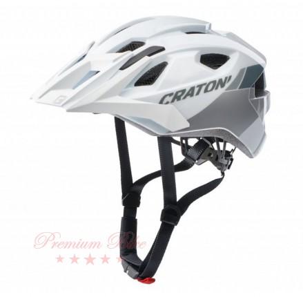Cratoni Велошлем Cratoni Allride белый/серебристый