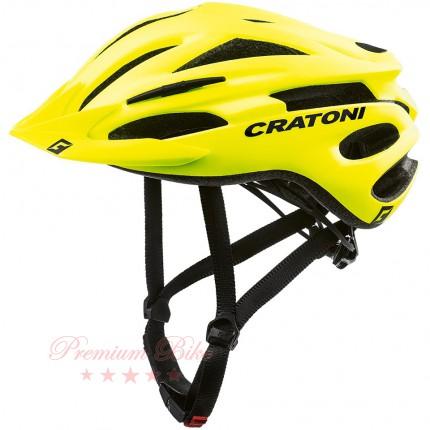 Cratoni Велошлем Cratoni Pacer неоновый жёлтый матовый