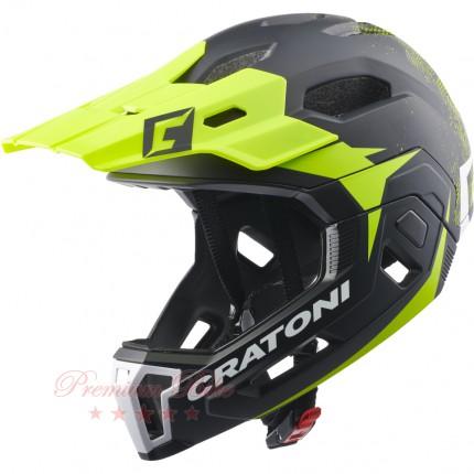 Cratoni Велошлем C-Maniac 2.0 MX чёрный/лайм матовый
