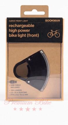 Bookman Фонарь велосипедный передний Curve Light Front черный