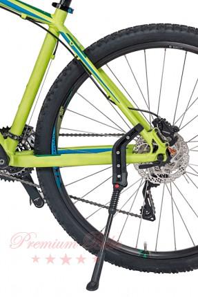 """Hebie Велосипедная подножка задняя FOX m, изменяемая длина 26-28"""", черная"""
