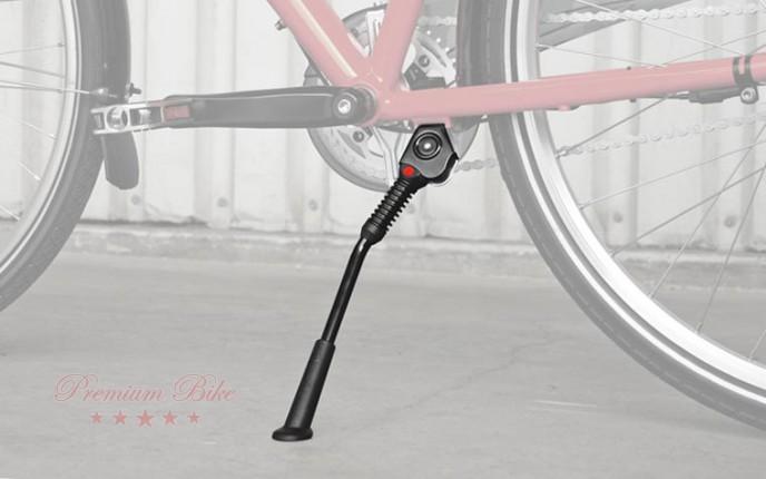 """Hebie Велосипедная подножка центральная LEX m, изменяемая длина 26-28"""", черная"""