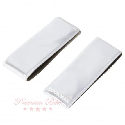 Bookman Светоотражающая магнитная клипса на одежду Clip-On белая 2 шт