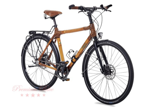 my Boo Велосипед трекинговый с бамбуковой рамой my Afram Speedhub